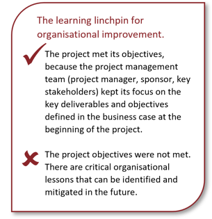 Learning Linchpin for organisational improvement